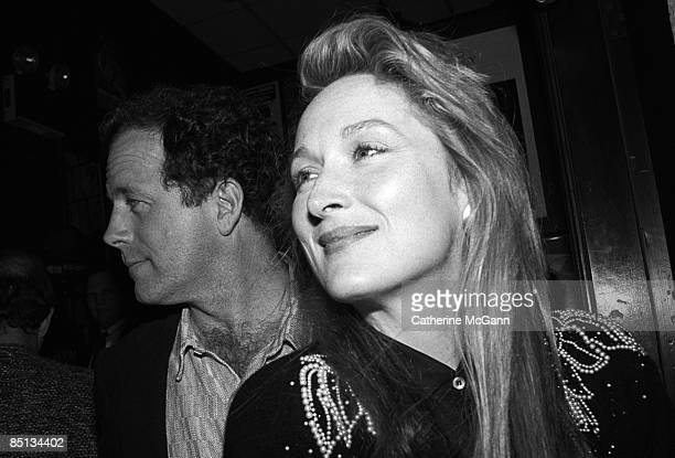 American actress Meryl Streep and husband American sculptor Don Gummer at the New York Film Critics Awards at Sardi's on January 15 1989 in New York...