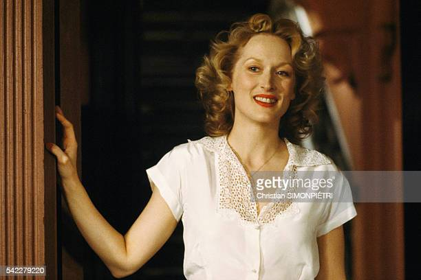 American actress Meryl Streep on the set of Sophie's Choice written directed and produced by Alan J Pakula