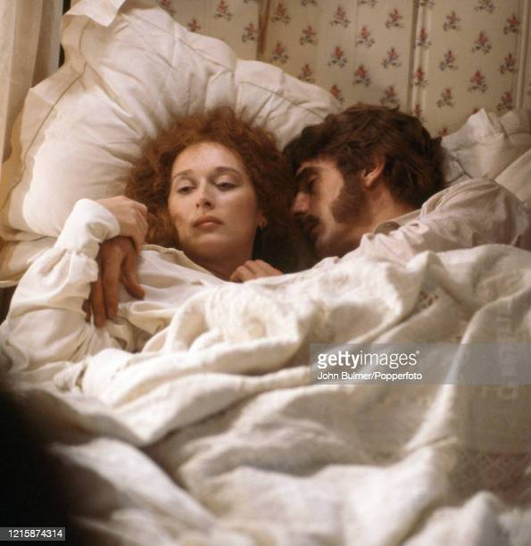 American actress Meryl Streep who played the role of Miss Sarah Woodruff in the romantic drama, The French Lieutenant's Woman, with co-star Jeremy...