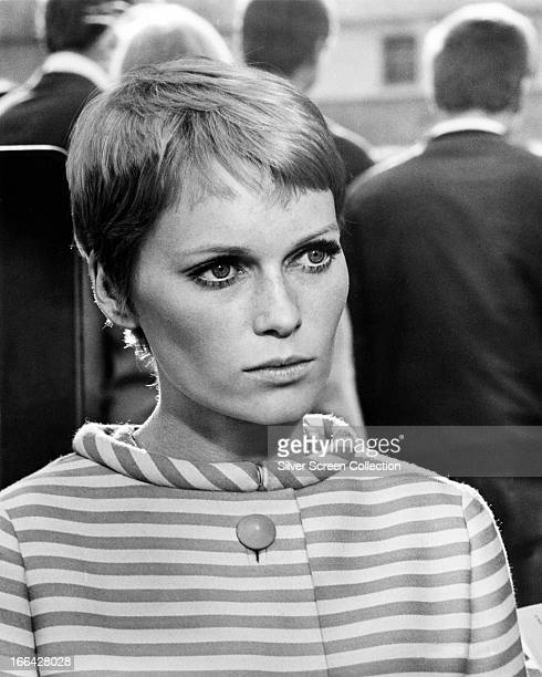 American actress Mia Farrow as Caroline in 'A Dandy In Aspic' directed by Anthony Mann 1968