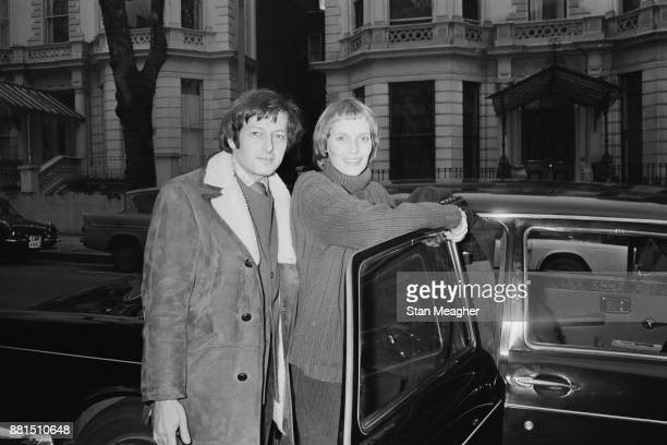 American actress Mia Farrow with GermanAmerican pianist and composer Andre Previn in London for the rehearsals of 'Joan of Arc' UK 6th February 1971