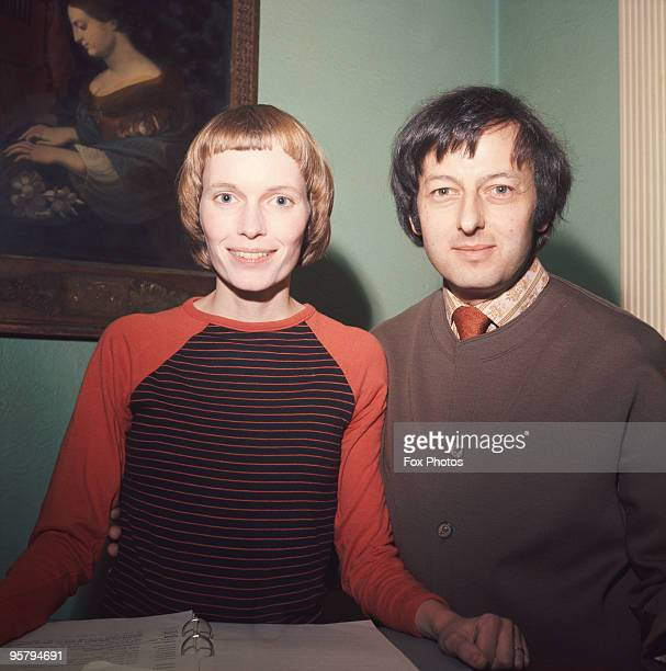 American actress Mia Farrow with her husband pianist and conductor Andre Previn circa 1970