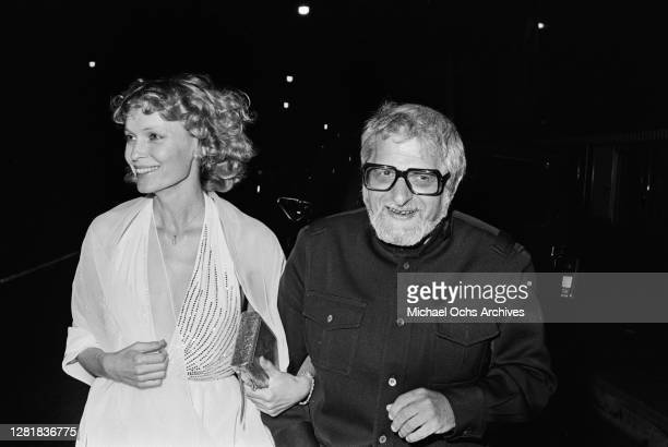 American actress Mia Farrow with playwright Paddy Chayefsky at the 51st Academy Awards at the Dorothy Chandler Pavilion in Los Angeles, 9th April...