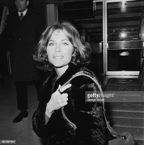 American actress Michele Carey at London Airport UK 3nd March 1971