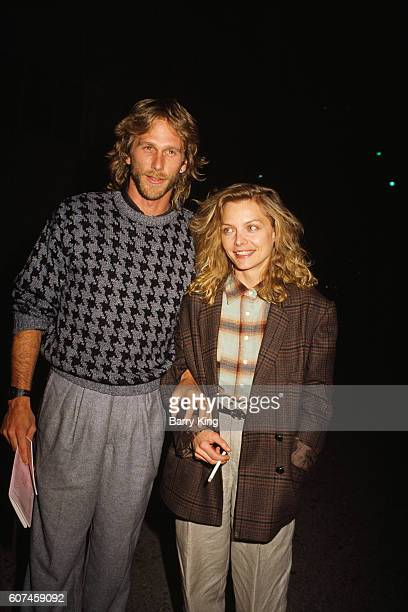 American actress Michelle Pfeiffer and her husband, actor Peter Horton.