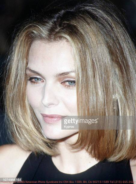 American actress Michelle Pfeiffer at the Golden Globe Awards, Beverly Hills, 18th January 1992.