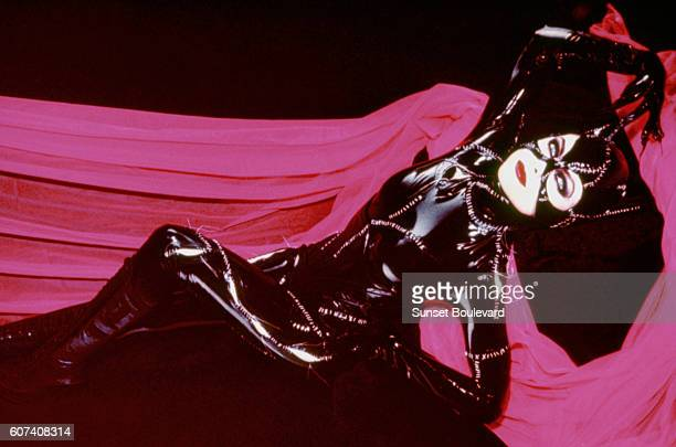 American actress Michelle Pfeiffer on the set of Batman Returns directed by Tim Bruton