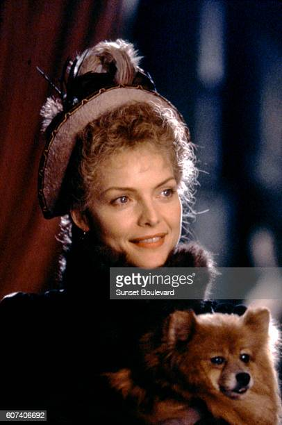 American actress Michelle Pfeiffer on the set of The Age of Innocence based on the novel by Edith Wharton and directed by Martin Scorsese