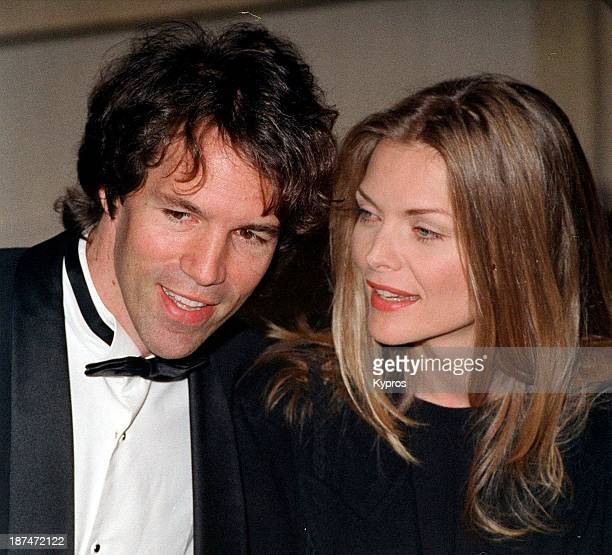 American actress Michelle Pfeiffer with her husband producer David E Kelley circa 1995