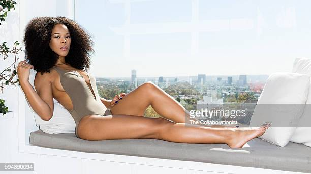 American actress model and singer Serayah is photographed for Esquire Magazine on November 30 2015 in Los Angeles California PUBLISHED IMAGE