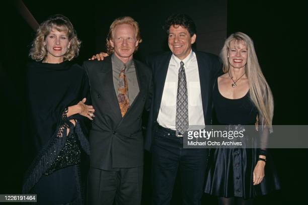 American actress Morgan Hart and her husband, American actor Don Most with American actor Anson Williams and his wife, Jackie Gerken, 1993.
