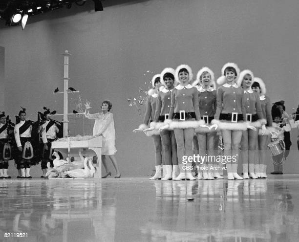 American actress Nannette Fabray performs 'The Twelve Days of Christmas' on 'The Smothers Brothers Comedy Hour' December 15 1967 Assisted the show's...