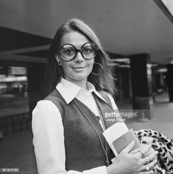 American actress Natalie Wood arrives at Heathrow Airport, London, UK, 9th July 1968.