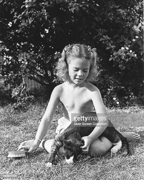 American actress Natalie Wood as a child circa 1945