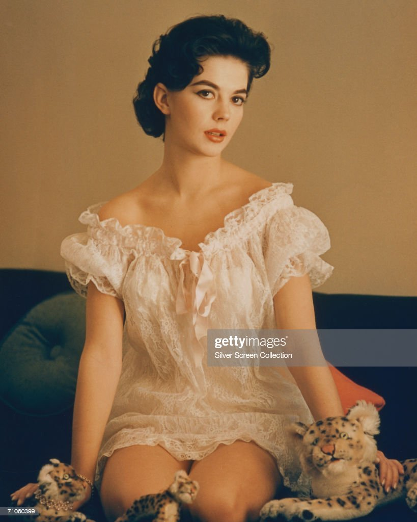 American actress Natalie Wood (1938 - 1981) in a frilly nightgown, circa 1960.