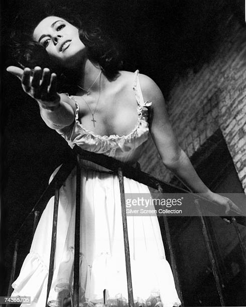 American actress Natalie Wood in a scene from the film version of the Bernstein/Sondheim musical 'West Side Story' directed by Jerome Robbins and...