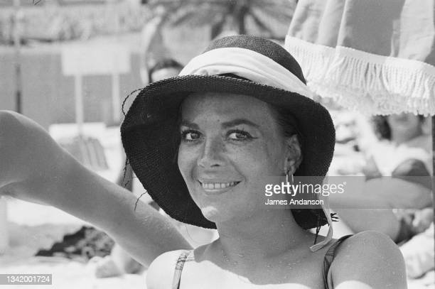 American actress Natalie Wood on holidays in Saint-Tropez, France