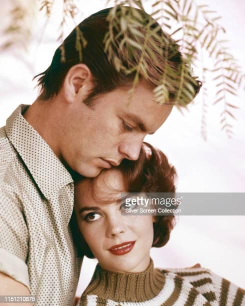 American actress Natalie Wood with her husband, actor Robert Wagner, circa 1960.