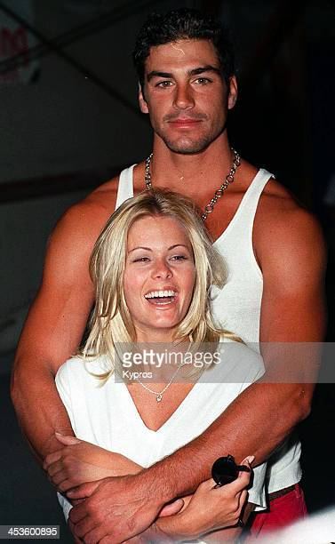 American actress Nicole Eggert with model and actor Eric Etebari 1993