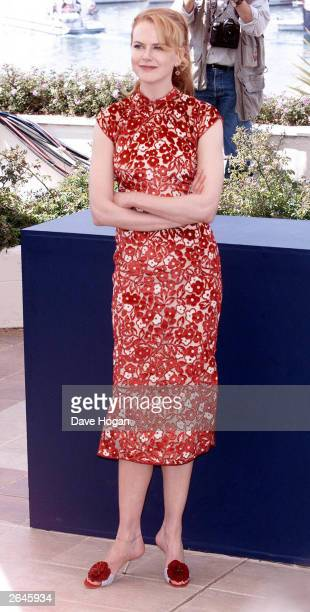 American actress Nicole Kidman attends the photocall for the film 'Moulin Rouge' on May 1 2001 in Cannes