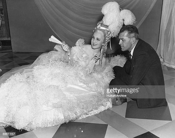 American actress Norma Shearer during filming of the MGM prestige movie 'Marie Antoinette' directed by W S Van Dyke II