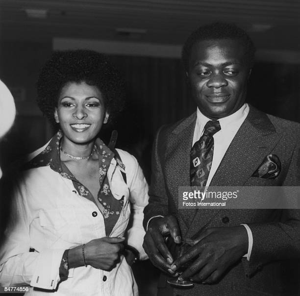 American actress Pam Grier with actor Yaphet Kotto at the Gold Medal Awards March 1973