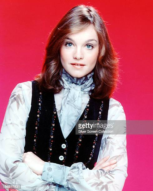 American actress Pamela Sue Martin in a promotional portrait for the TV series 'The Hardy Boys/Nancy Drew Mysteries' 1977