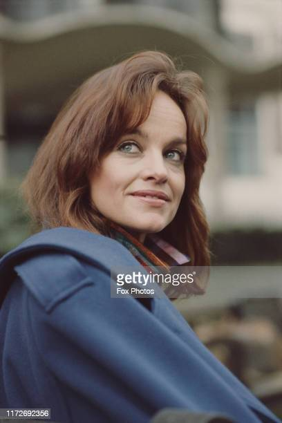 American actress Pamela Sue Martin in London to promote her latest film 'Torchlight' 1985 She cowrote the movie as well as starring in it