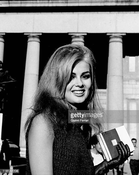 American actress Pamela Tiffin in front of the 'Museo del Prado' Madrid Spain