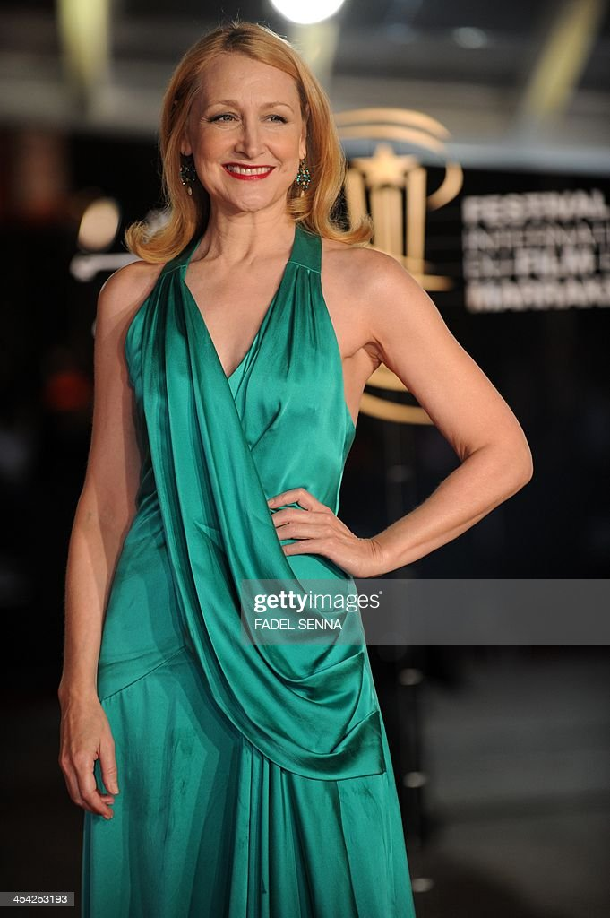 American actress Patricia Clarkson poses for a photograph during the closing ceremony of the 13th Marrakech International Film Festival on December 7, 2013, in Marrakech.
