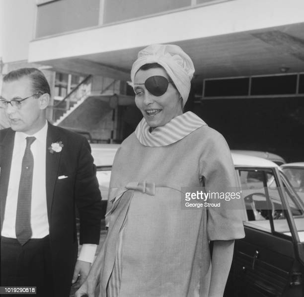 American actress Patricia Neal arrives at Heathrow Airport London UK 21st May 1965