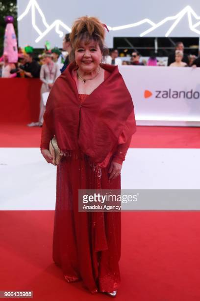 American actress Patrika Darbo arrives for the 25th Life Ball at Rathaus City Hall in Vienna Austria on June 02 2018 The Life Ball an annual charity...