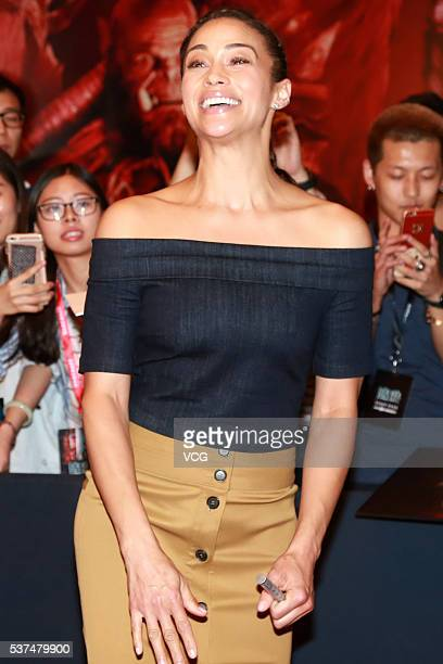 American actress Paula Patton attends the premiere of movie Warcraft on June 1 2016 in Beijing China