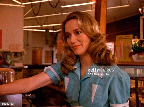 American actress Peggy Lipton in a scene from the pilot episode of the television series 'Twin Peaks' originally broadcast on April 8 1990