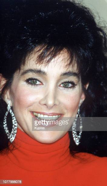 American actress producer and fashion model Connie Sellecca attends the 45th Annual Golden Globe Awards at Beverly Hilton Hotel in Beverly Hills...