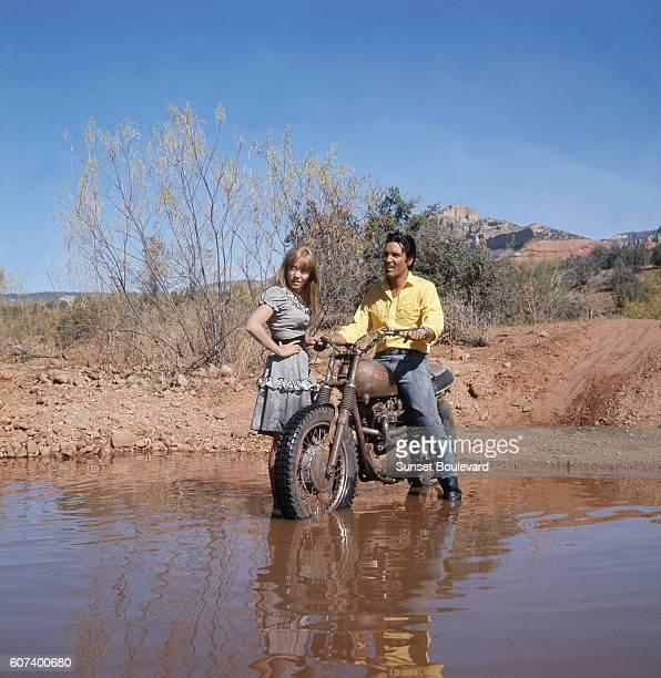 American actress Quentin Dean and singer actor Elvis Presley in Stay Away Joe directed by Peter Tewksbury