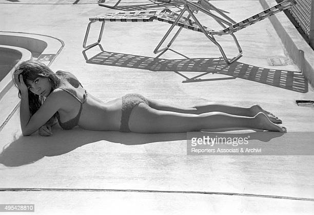 American actress Quentin Dean wearing a bikini on the set of the film In the Heat of the Night 2nd January 1968