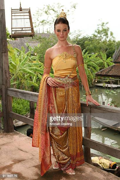 American actress Rachel Nichols attends the 'Thai Night' event on the second day of the Bangkok International Film Festival 2009 at Siam Niramit...