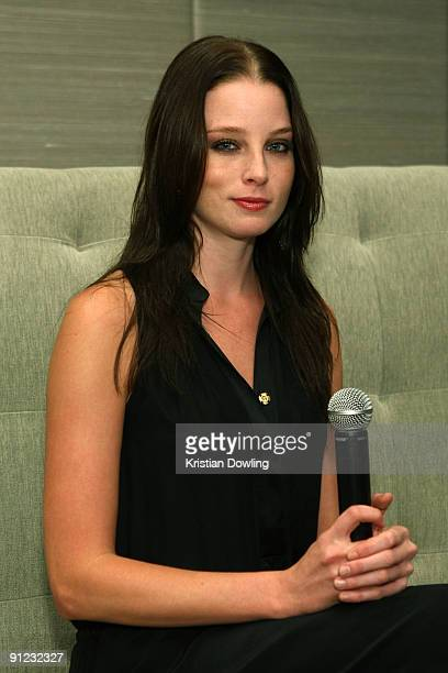 American actress Rachel Nichols speaks at a press conference before attending 'Hollywood Night in Bangkok' at the Chatrium Suites on the fourth day...