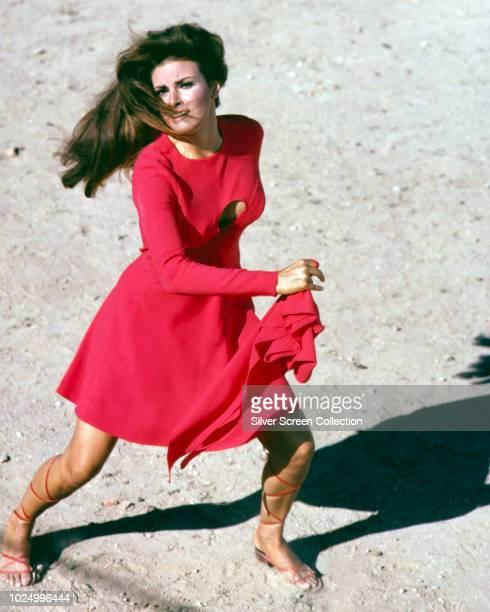 American actress Raquel Welch as Fathom Harvill in the spy comedy 'Fathom' 1967