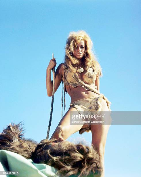 American actress Raquel Welch as Loana in 'One Million Years BC', directed by Don Chaffey, 1966.