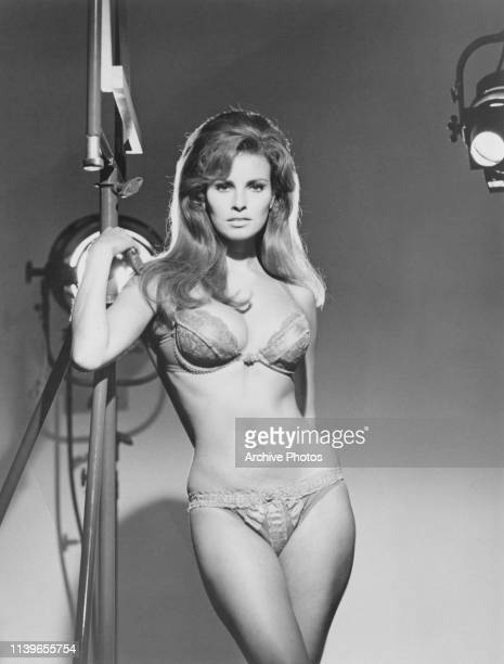 American actress Raquel Welch in underwear, circa 1970.