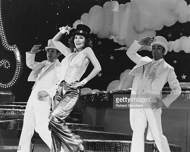 American actress Raquel Welch performs a song and dance number circa 1975