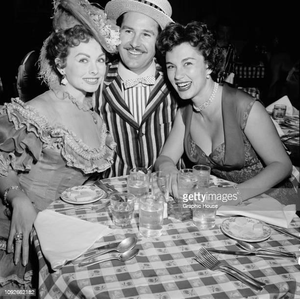American actress Rhonda Fleming at a party 11th January 1954
