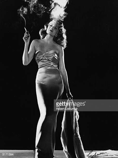 American actress Rita Hayworth as Gilda in the film of the same name directed by Charles Vidor a role which gained her superstar status in Hollywood
