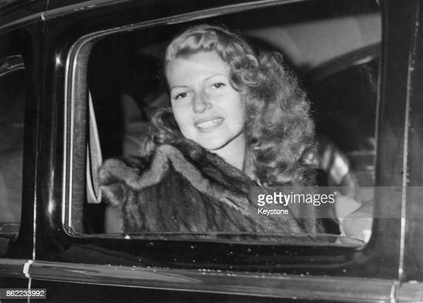 American actress Rita Hayworth at Victoria Station in London 24th May 1950