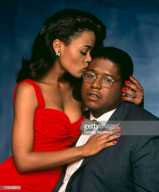 American actress Robin Givens with actor Forest Whitaker her costar in the film 'A Rage in Harlem' directed by Bill Duke 1991