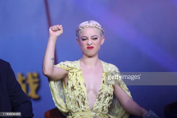American actress Rosa Salazar attends the press conference of film 'Alita Battle Angel' on February 18 2019 in Beijing China