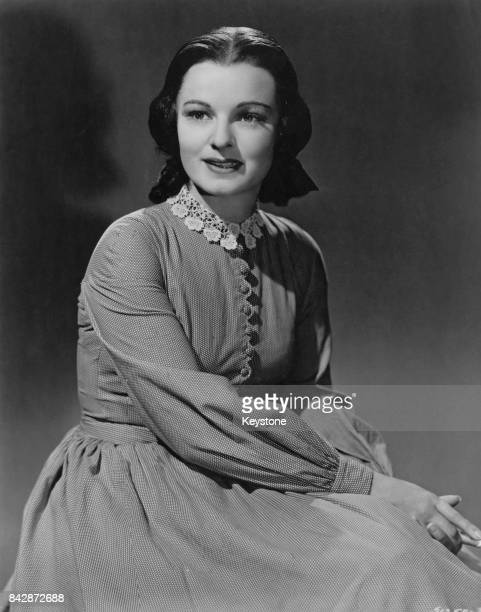 American actress Ruth Hussey as Eliza McCardle Johnson the wife of US President Andrew Johnson in a publicity still for the film 'Tennessee Johnson'...