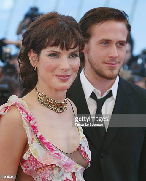 American actress Sandra Bullock and actor Ryan Gosling arrive at the Festival Palace before the screening of the film ' Murder by Numbers' Friday May...